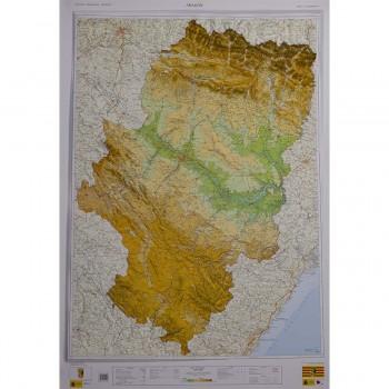 Mapa Aragón relieve 1:300.000