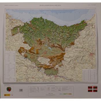 Mapa Álava,Guipúzcoa y...