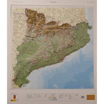 Mapa Cataluña relieve...