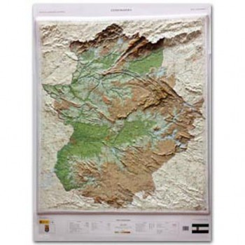 Mapa Extremadura relieve...