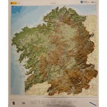 Mapa Galicia relieve 1:250.000