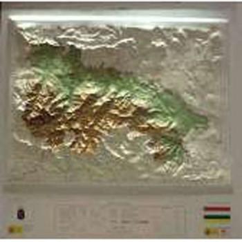 Mapa La Rioja relieve...