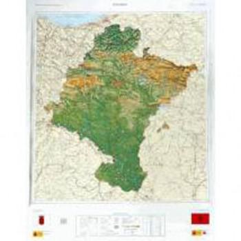 Mapa Navarra relieve 1:200.000