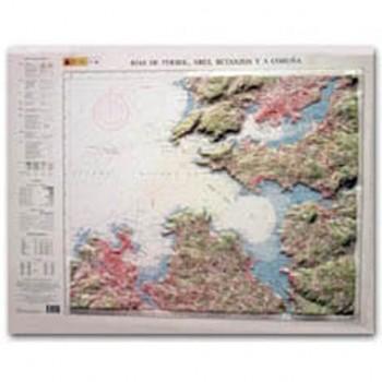 Mapa Rías de Ferrol, Ares,...