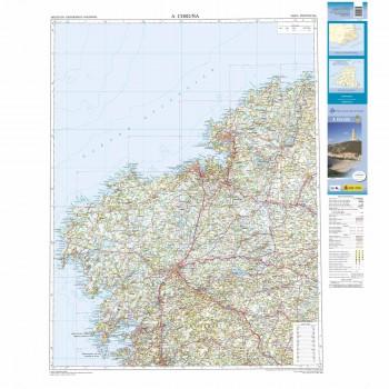 Mapa provincial A Coruña...