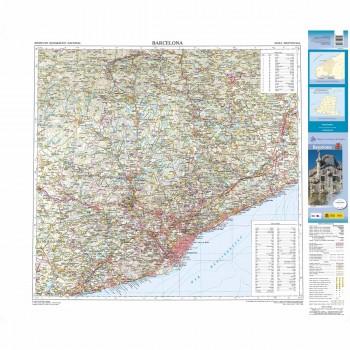 Mapa provincial Barcelona...