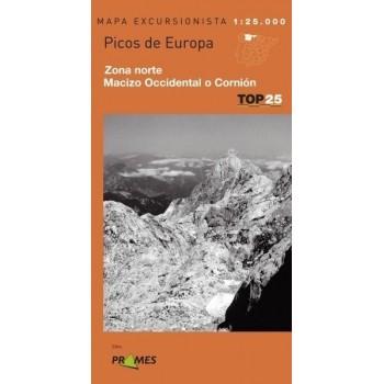 Mapa TOP 25 Picos de Europa...