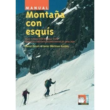 Montaña con esquís