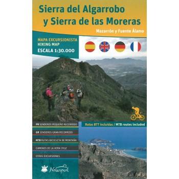 Mapa Sierra del Algarrobo y...